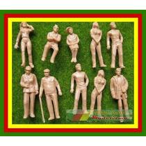 1/43 - 10 Figuras Homens E Mulheres Sem Pintura Escala 1:43