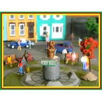 E07- Estátua De Praça Jardim P/ Maquetes Ho 1:87, 1:76, 1:50