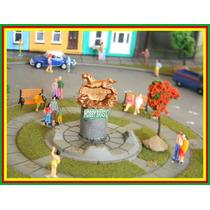 E02- Estátua De Praça Jardim P/ Maquetes Ho 1:87, 1:76, 1:50