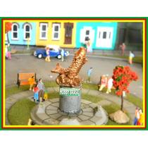 E03- Estátua De Praça Jardim P/ Maquetes Ho 1:87, 1:76, 1:50