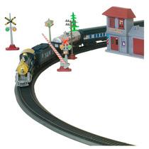 Trem Elétrico Bel Brink Locomotiva Brinquedo Casas Árvores