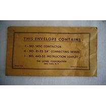 Lionel Trem Envelope Contactor