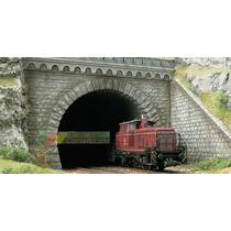 Par De Portal De Túnel Duplo + Muro Lateral Ho 1/87 Hbm307