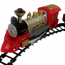 Ferrorama Locomotiva 48pc Trem Trilho Vagões Braskit 800-0