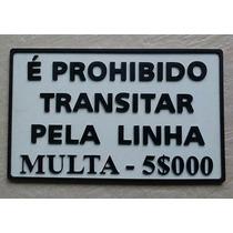 Logo Placas Ferrovias Ferreomodelismo Sinalização