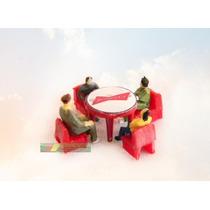 Kit Budweiser Mesa +4 Cadeiras +4 Figuras Ho 1:87 Praia