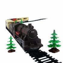 Ferrorama Super Locomotiva 40pc Trem Vagões Braskit 800-3