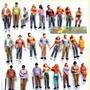 10 Figuras Humanas Escala 1:50 Plástico Maquete Arquitetura