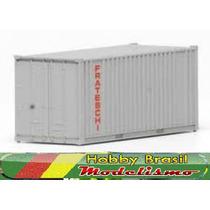 Container 40 Pés Cinza Ho 1:87 Frateschi 20757