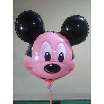 Balão Metalizado, Mickey Enfeite De Mesa Pronta Entrega.