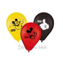 Bexiga, Balão De Festa Mickey 9 Polegadas São Roque