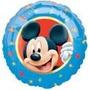 Balão Metalizado Mickey Tam. 9p 22,5cm - Kit Com 2 Unidades