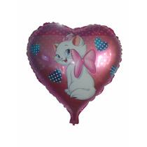 Balão Personalizado Metalizado Gatinha Marie Kit/24 Unidades