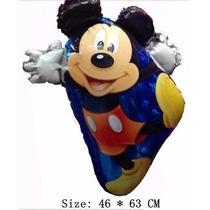 Balão Metalizado Mickey Corpo Kit Com 10 Baloes