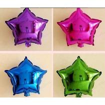 Kit C/ 10 Balão Metalizado Estrela De 21cm R$ 19,99