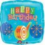 Balão Metalizado Feliz Aniversário Festa Happy Birday 45cm