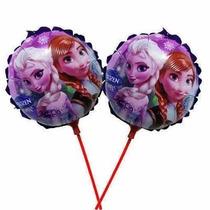 Balão Metalizado Frozen Centro Mesa Kit 40 Balões + Vareta
