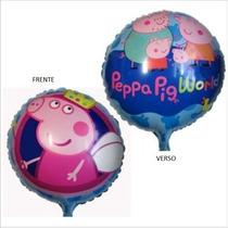 Balão Metalizado Gás Hélio Peppa Pig (20 Und) Pronta Entrega