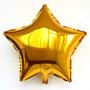 10 Balões Estrelas Metalizados 18 Polegadas Dourada