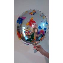Balão Metalizado Borboleta E Jardim