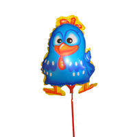 Balão Galinha De Mesa 18x12 C/ Palito( Pact C/ 12 Unds)