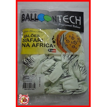 Balão/bexiga Balloontech Nº10 - Com 25 Un Safari Zebra
