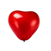 Balão Bexiga Regina Coração Nº 10 Vermelho Com 25 Unidades