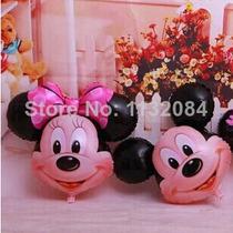 Balão Mickey E Minnie Cabeção Kit C/ 10 - R$ 35,00