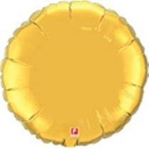 Kit C/ 5 Balão Metalizado Redondo 45cm - Dourado