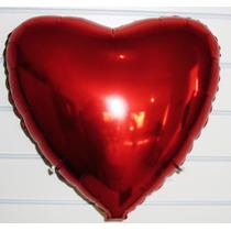Balão Metalizado Coração Para Festas + Brinde