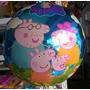 Balão Metalizado Familia Peppa Pig - Kit Com 10 Unidades