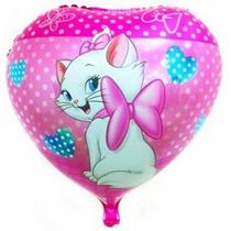 Balão Metalizado Gás Hélio Gata Marie - 10 Unid