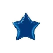 Balão Estrela Azul 45cm Metalizados Kit C/ 10 Unid Vazio