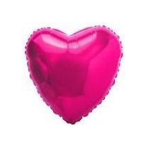 Balão Coração Pink 45cm Metalizados Kit C/ 15 Unid Vazio