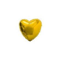 Balão Coração Dourado 45cm Metalizados Kit C/ 10 Unid Vazio