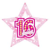 Balão Metalizado Estrela 60cm Festa Aniversário De 16 Anos