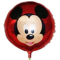 Kit 30un. Balão Metalizado Mickey De Mesa 21cm