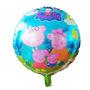 02 Balões Metalizados Família Peppa Pig, 18 , Envio Imediato