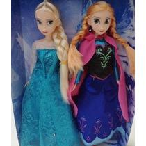 Bonecas Frozen Princesa Ana E Rainha Elsa 30 Cm Disney