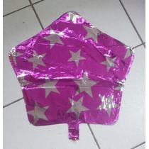 Balão Metalizado Estrela 45cm Kit C/ 10 - R$ 25,00