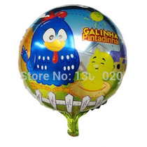 Balão Metalizado Da Galinha Pintadinha (9 Unidades)
