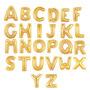Balão Metalizado Letra Dourada Mini - A Á Z: Kit 8 Unidades