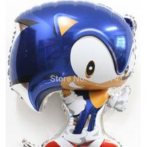 Balão Metalizado Sonic Pacote 10 Balões Decoração Festa
