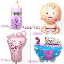 Balão Metalizado Bebê Menino Ou Menina,valor Kit Com 4 Peças