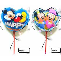 Kit Balão Metalizado Com 10 Unid Mickey-minnie 21 Cm X 21 Cm