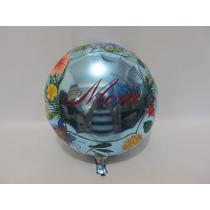 Balão Metalizado 10 Unidades Mamãe Flores 32 Diâmetro Cm