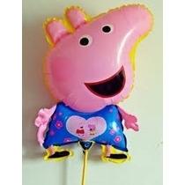 10 Balão Metalizado Peppa Pig Festa,aniversario,infantil