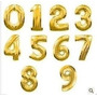 Balão Metalizado Dourado Ou Prata Números E Letras - 40cm