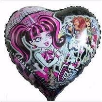 Balão Metalizado Monster High Coração - Kit/80 Unidades