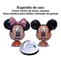 Minnie Mickey Balão Festa Metalizado Decorativo Lembrancinha